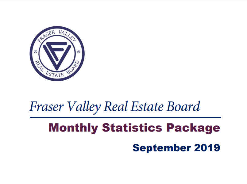 Mission, BC Statistics from Fraser Valley Real Estate Board Statistics Package – September 2019